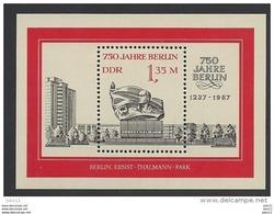 DDR, 1987, Block 89 Michel-Nr. 3123, **postfrisch - [6] République Démocratique