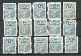 LETTLAND Latvia 1925 Michel 105 Lot Of 15 Stamps* - Lettonie