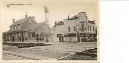 SOLRE-SUR-SAMBRE - La Gare. Café De La Gare, Celta Pils, Douaniers. - Erquelinnes