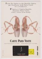 CARTE PARIS VISITE - D'Opéra à L'Opéra Bastille ... Vous Y Serez D'un Bond - Chaussons De Danse - RATP SNCF - Transport Urbain En Surface