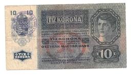 "Hongrie Hungary Ungarn Autriche Austria Overprint  """" NAGYBECSKEREK """" 10 Kronen 1915 - Hongrie"