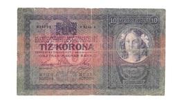 "Hongrie Hungary Ungarn Autriche Austria Overprint  """" NAGYBECSKEREK """" 10 Kronen 1904 RARE - Hongrie"