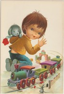 Enfant :  Peralta ? Illustrateur  , Jouet , Train , Souris - Non Classés