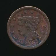 ONE CENT 1853  2 SCANS - Federal Issues