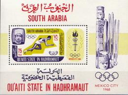 Quaiti State In Hadhramaut MNH SS - Summer 1968: Mexico City