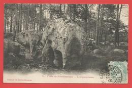 """C.P.A. ( 77 ) """" Forêt De FONTAINEBLEAU  """"  L' Hippopotame  -X 2 Photos - Fontainebleau"""