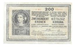 "Hongrie Hungary Ungarn Autriche Austria Ovp 200 Kronen 1918 "" SEGEDI BANKEGYESULET 1906 "" - Hongrie"