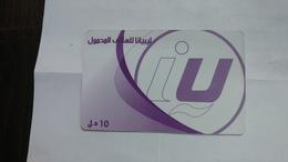 Libya-prepiad Card-(2)-(10units)-(1293517945606)-used Card+1card Prepiad Free - Libyen
