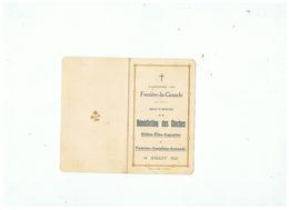 PAROISSE DE FERRIERE LA GRANDE (NORD)  SOUVENIR BENEDICTION DES CLOCHES 16 JUILLET 1922 - Images Religieuses