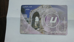 Libya-prepiad Card-(4)-(10units)-(5674416417204)-used Card+1card Prepiad Free - Libye