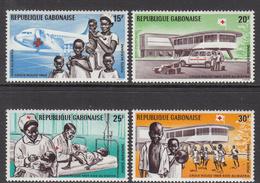 1969 Gabon Gabonaise Aid To Biafra Health Doctors Red Cross  Complete Set Of 4 MNH - Gabon (1960-...)