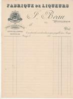 Algérie Facture Illustrée Neuve F BEAU Fabrique De Liqueurs Distillateur BOUGIE 189? - Factures & Documents Commerciaux