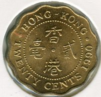 Hong Kong 20 Cents 1990 KM 59 - Hong Kong