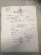 Vieux Passe - Port  D'un Tailleur De Boulogne Sur Mer , Pas De Calais, Premier Prairial An 7  De La République -1799 - Titres De Transport