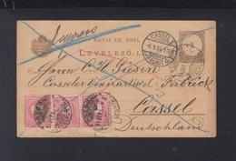 Hungary Slovakia Express Stationery 1894 Pozsony Bratislava To Germany - Ungheria