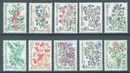 ANDORRE  - 1985 - MNH/*** LUXE - FLOWERS FLEURS  - Yv TX 53-62  -  Lot 19141 - Neufs