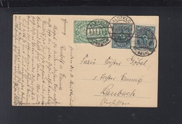 Dt. Reich PK 1923 Alsfeld Nach Laubach - Briefe U. Dokumente
