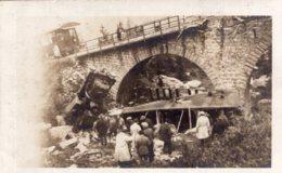 """S1172 Cpa 74  Chamonix 1927 - Catastrophe Ferroviaire, Train à Crémaillèrede Montenvers """" Carte Photo"""" - Chamonix-Mont-Blanc"""