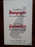 L18/68 Buvard. Vins De Bourgogne. Geisweiler. Nuits Saint Georges - Food