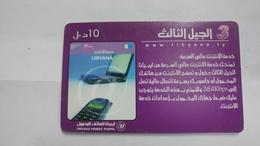 Libya-prepiad Card-(15)-(10units)-(6210948205390)-used Card+1card Prepiad Free - Libia