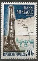 France 1959 Scott 922 MNH Sahara, Oil, Map - Neufs