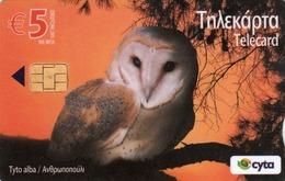 CYPRUS - Tydo Alba (Owl) ,0802CY, 05/09, Tirage 20.000, Used - Chipre