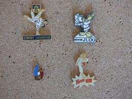 Lot De 4 Pin's Thème Judo Karaté - Judo