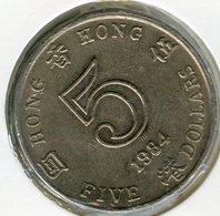 Hong Kong 5 Dollars 1984 KM 46 - Hong Kong