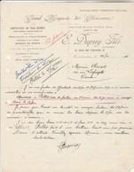 Algérie Facture Lettre 26/11/1946 DUPUY  Chaussures Articles De Sport CONSTANTINE à Clairet Vienne - Factures & Documents Commerciaux