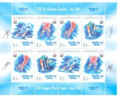 2014. Azerbaijan, Winter Olympic Games Sochi'2014, Sheetlet, Mint/** - Aserbaidschan