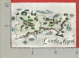 CARTOLINA NV ITALIA - Isola Di CAPRI - Cartina Geografica - Illustrata - 10 X 15 - Carte Geografiche