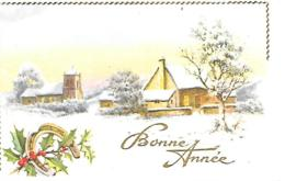 MIGNONNETTE BONNE ANNEE FORMAT 7 X11 CM  PHOTOCHROM 148 - Nouvel An