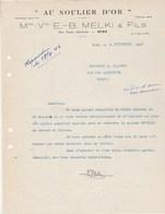 Algérie Facture Lettre 4/9/1946 MELKI Au Soulirer D' Or Chaussures BONE à Clairet Vienne - Factures & Documents Commerciaux