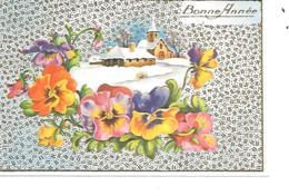 MIGNONNETTE BONNE ANNEE FORMAT 7X11 CM PHOTOCHROM 163 - Nouvel An