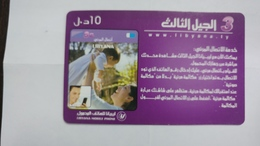Libya-prepiad Card-(20)-(10units)-(3608399189557)-used Card+1card Prepiad Free - Libia