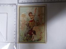 Chromo SIROP ZED Enfant Chève Tireuse D'eau Lith Vieillemard Photo Recto/verso - Chromos