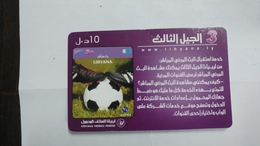 Libya-prepiad Card-(21)-(10units)-(7099961962259)-used Card+1card Prepiad Free - Libia