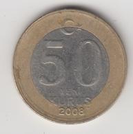 @Y@  Turkije    50  Yeni   Kurus   2008    (4742) - Turquie