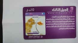 Libya-prepiad Card-(22)-(10units)-(9091131561508)-used Card+1card Prepiad Free - Libia
