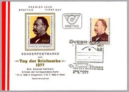 DIA DEL SELLO - DAY OF STAMP - TAG DER BRIEFMARKE. Wien 1977 - Día Del Sello