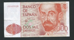 ESPAGNE 2000 Pesetas 1980 , J5523726  - Laura4401 - [ 4] 1975-…: Juan Carlos I.
