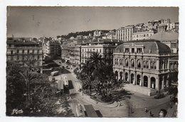 Algérie -- ALGER--195? --L'Opéra Et La Rue Dumont-d'Urville -- Timbre -- Cachet HUSSEIN-DEY  ....................... - Alger