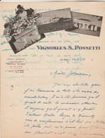 Algérie Facture Lettre Illustrée 14/1/1936 Vignobles S PONSETTI LES ISSERS ISSERVILLE - Factures & Documents Commerciaux