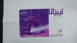 Libya-prepiad Card-(25)-(10units)-(2321878846424)-used Card+1card Prepiad Free - Libye