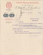 Algérie Facture Lettre Illustrée 19/4/1921 BONELLO & AUZOLLE Fruits Citrons Oranges Mandarines  BLIDA à Violet Thuir - Factures & Documents Commerciaux
