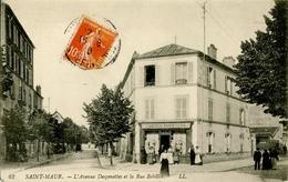 """94. VAL DE MARNE - SAINT-MAUR. L'Avenue Desgenettes Et La Rue Bobillot. Magasin De Cartes Postales """"A La Modestie"""". - Saint Maur Des Fosses"""