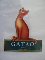 Etiquette De Vin GATAO, Vinho, Wine Rosé, Chat, TB - Chats