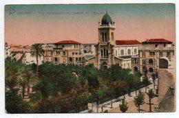 Tunisie--BIZERTE--1937--Vue D'ensemble Du Jardin Et L'église --Carte Colorisée --.........à Saisir - Tunesië