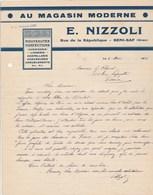 Algérie Facture Lettre 4/3/1946 E NIZZOLI Au Magasin Moderne Lingerie Chapellerie Chaussures BENI SAF Oran - Déchirure - Factures & Documents Commerciaux