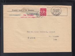 Tschechien Briefstück 1946 Aptierter Stempel - Briefe U. Dokumente